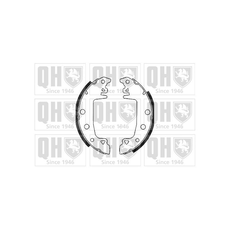 Jeu de mâchoires de frein QUINTON HAZELL BS546 pour PEUGEOT 305 1,5 - 73cv