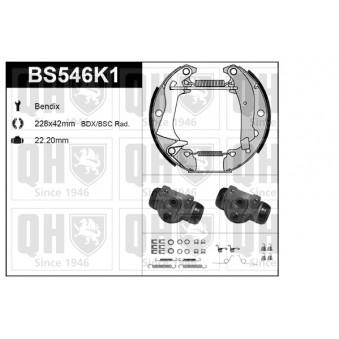 Kit de freins, freins à tambours QUINTON HAZELL BS546K1