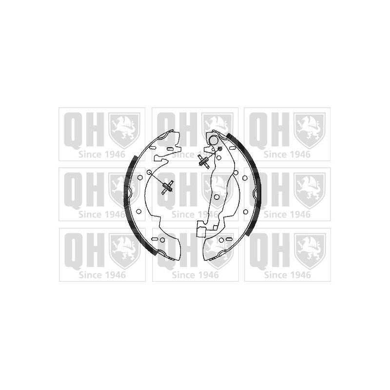 Jeu de mâchoires de frein QUINTON HAZELL BS555 pour PEUGEOT 305 1,5 - 73cv