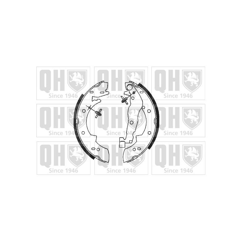Jeu de mâchoires de frein QUINTON HAZELL BS678 pour ALFA ROMEO 33 1,3 - 79cv