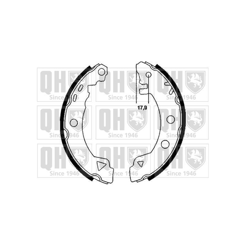 Jeu de mâchoires de frein QUINTON HAZELL BS809 pour ALFA ROMEO 33 1,3 - 79cv