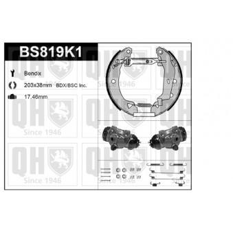 Kit de freins, freins à tambours QUINTON HAZELL BS819K1 pour ALFA ROMEO 33 1,3 - 79cv