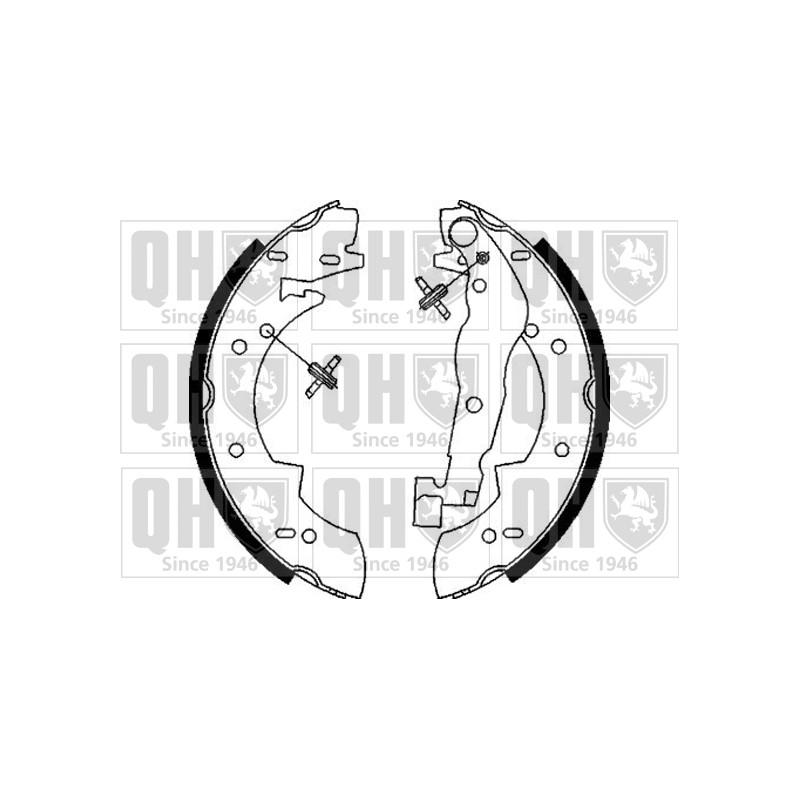 Jeu de mâchoires de frein QUINTON HAZELL BS845 pour ALFA ROMEO 33 1,3 - 79cv