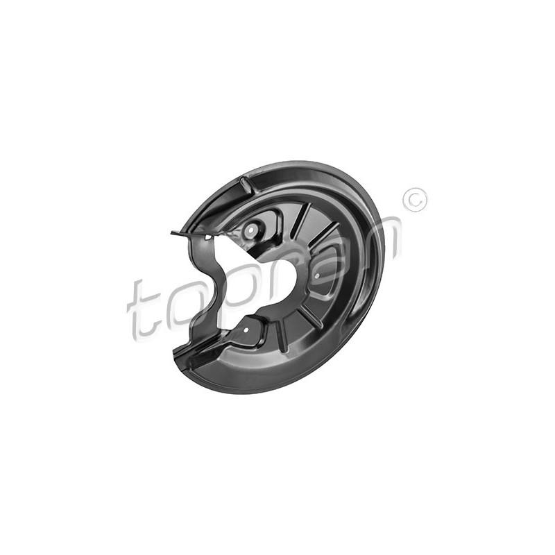 Déflecteur, disque de frein arrière gauche (à l'unité) TOPRAN TOPRAN [116 067]