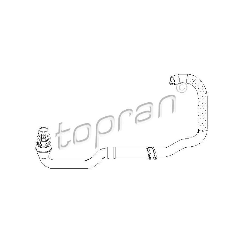 Durite de radiateur TOPRAN [721 449]