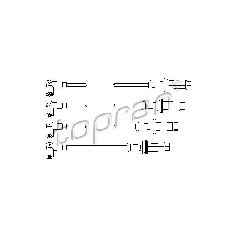 Kit de câbles d'allumage TOPRAN [721 506]