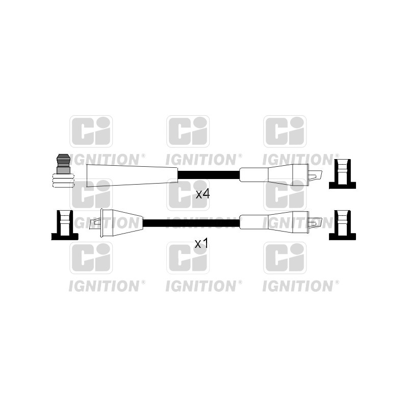 Kit de câbles d'allumage QUINTON HAZELL [XC394]