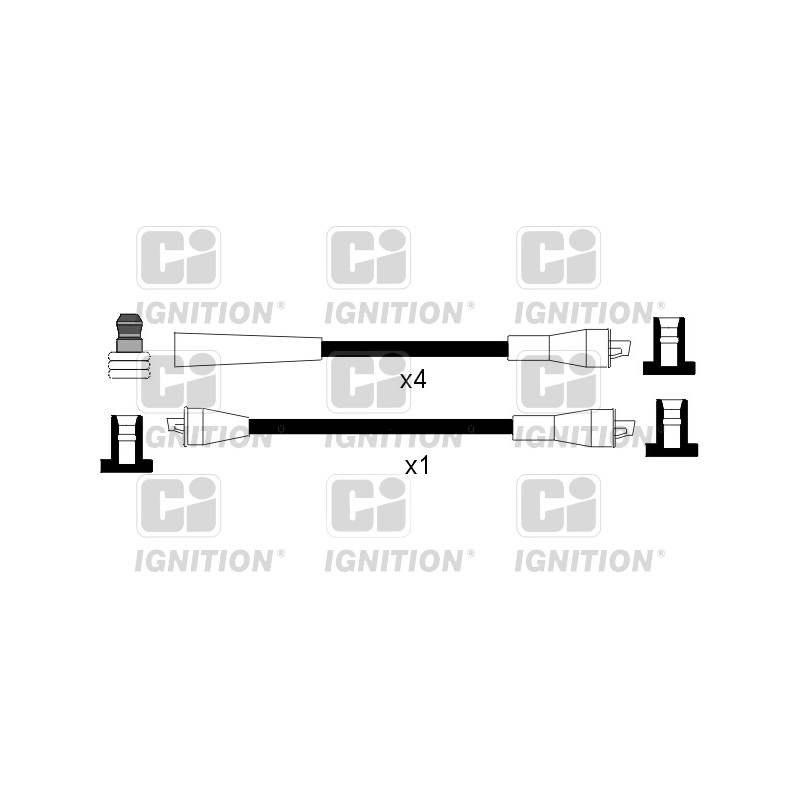 Kit de câbles d'allumage QUINTON HAZELL [XC802]