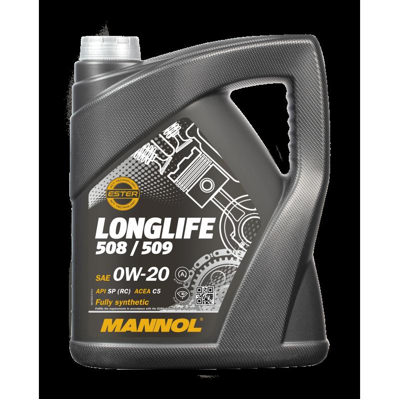 Huile moteur 0W20 508 00 / 509 00 - 5 litres MANNOL [7722-5]