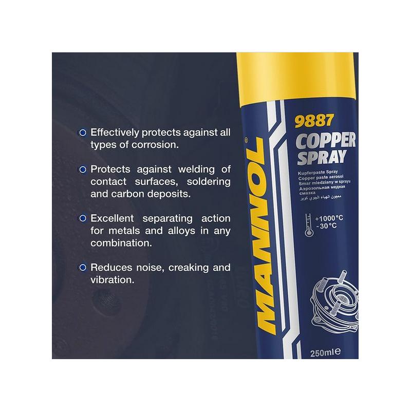 Graisse cuivrée en aérosol 250ml MANNOL [MAN9887]