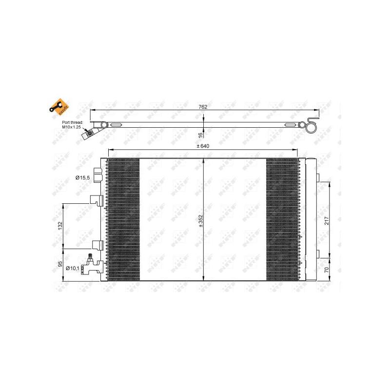 Condenseur, climatisation NRF [35932]