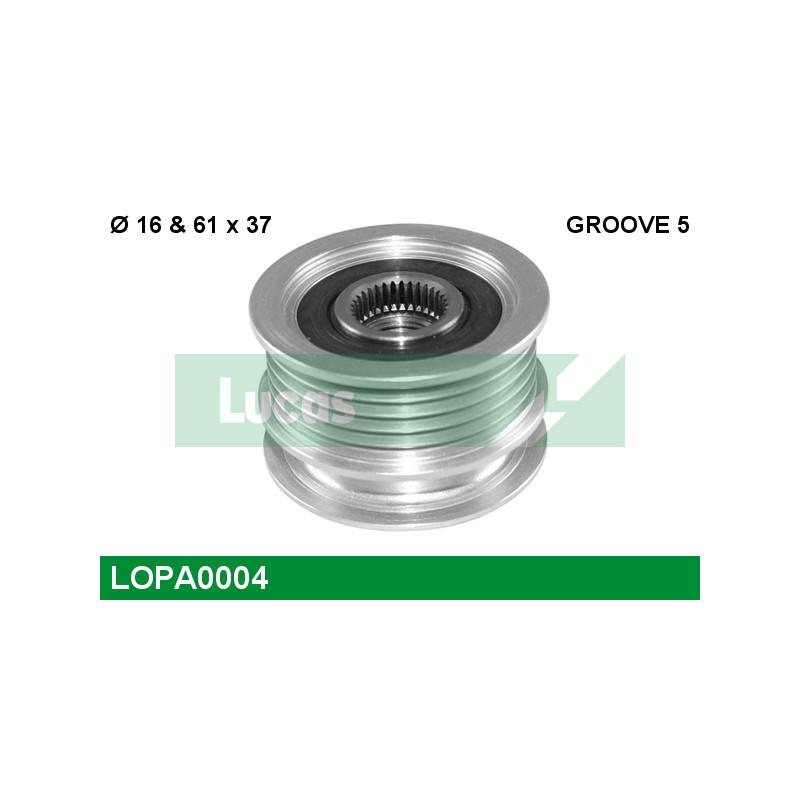 Poulie roue libre, alternateur LUCAS ENGINE DRIVE LOPA0004 pour VOLKSWAGEN GOLF 1,9 TDI - 110cv