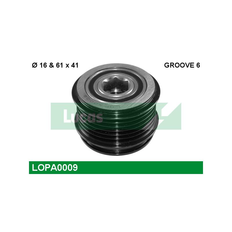 Poulie roue libre, alternateur LUCAS ENGINE DRIVE LOPA0009 pour VOLKSWAGEN GOLF 1,9 TDI - 110cv