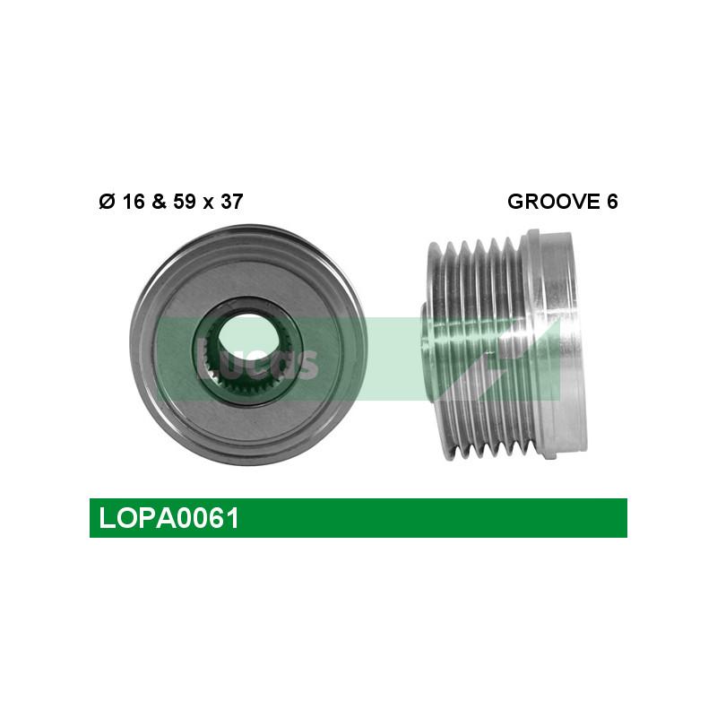 Poulie roue libre, alternateur LUCAS ENGINE DRIVE LOPA0061 pour FORD MONDEO 1,8 SCi - 130cv
