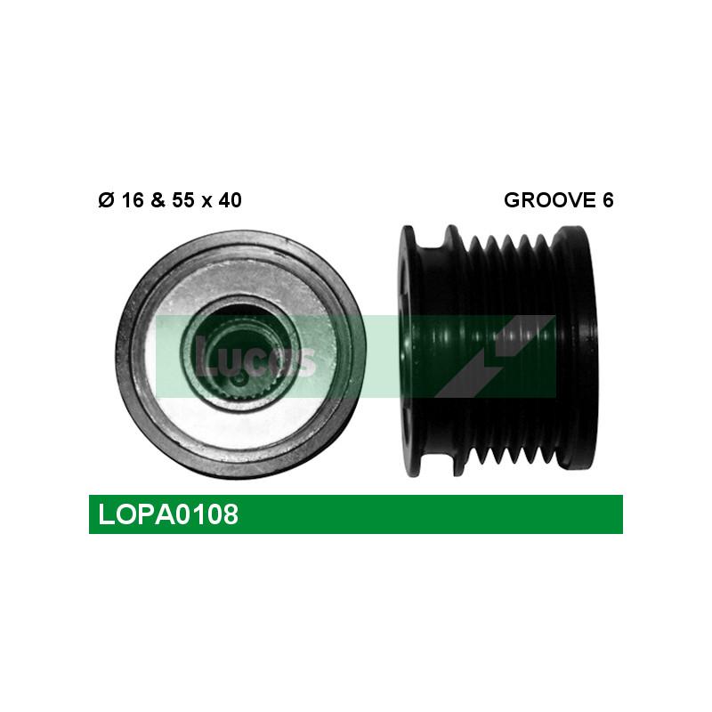 Poulie roue libre, alternateur LUCAS ENGINE DRIVE LOPA0108 pour VOLKSWAGEN GOLF 1,9 TDI - 105cv
