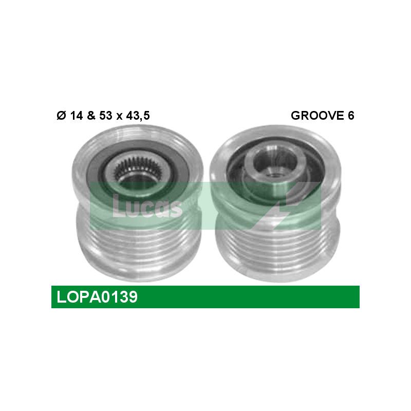 Poulie roue libre, alternateur LUCAS ENGINE DRIVE LOPA0139 pour FORD MONDEO 1,8 SCi - 130cv