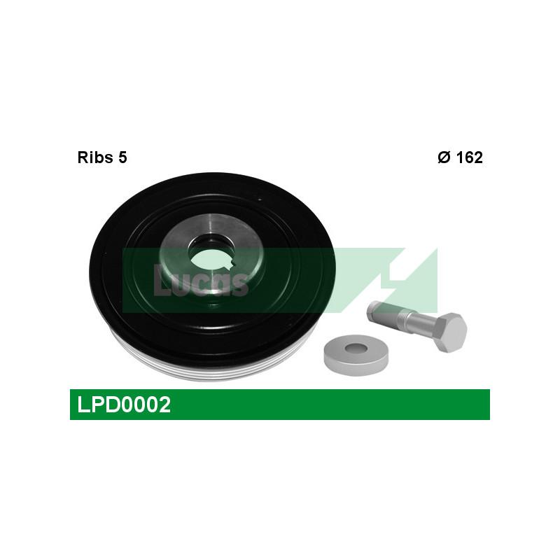 Poulie, vilebrequin LUCAS ENGINE DRIVE LPD0002 pour PEUGEOT 806 2,0 HDI - 109cv