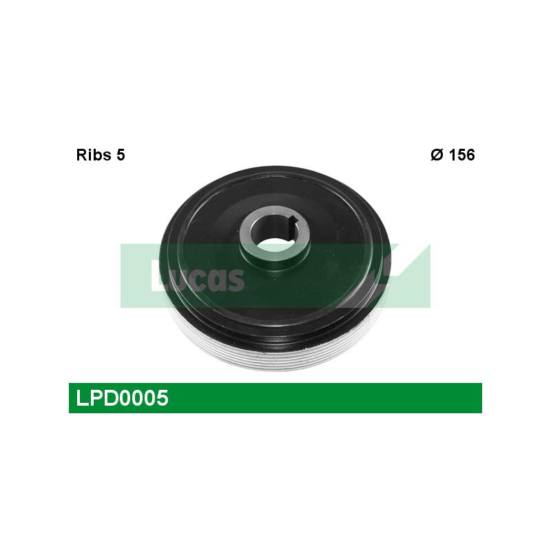 Poulie, vilebrequin LUCAS ENGINE DRIVE LPD0005 pour PEUGEOT 806 1,9 TD - 92cv