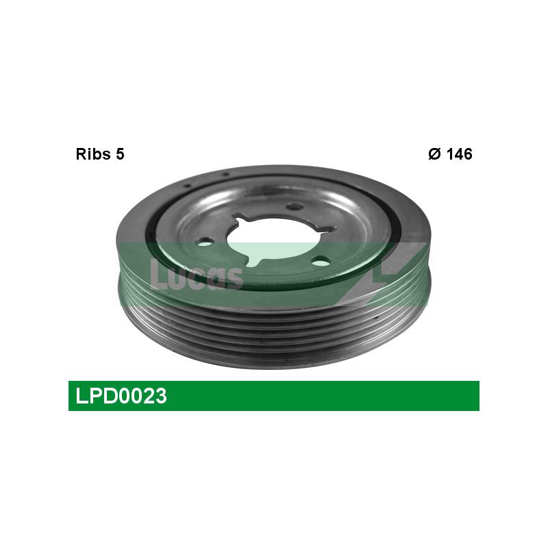 Poulie, vilebrequin LUCAS ENGINE DRIVE LPD0023 pour PEUGEOT 206 1,4 - 75cv