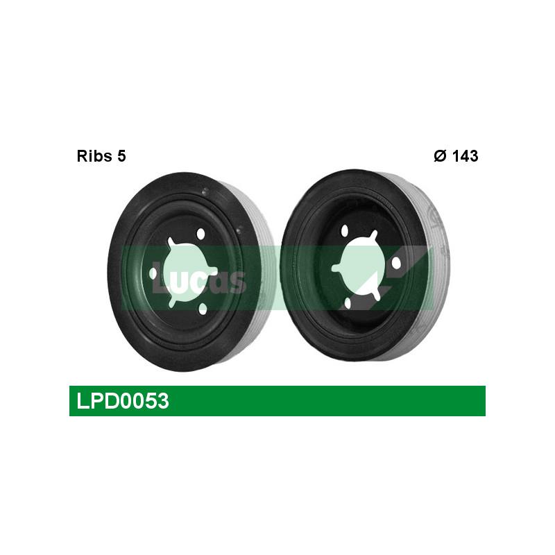 Poulie, vilebrequin LUCAS ENGINE DRIVE LPD0053 pour PEUGEOT 206 1,4 - 75cv