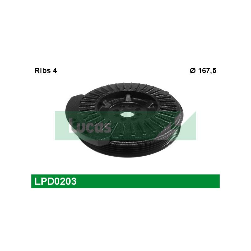 Poulie, vilebrequin LUCAS ENGINE DRIVE LPD0203 pour AUDI A6 RS6 quattro - 580cv