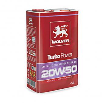 Huile moteur 20W50 Turbo Power - 5 Litres WOLVER 4157