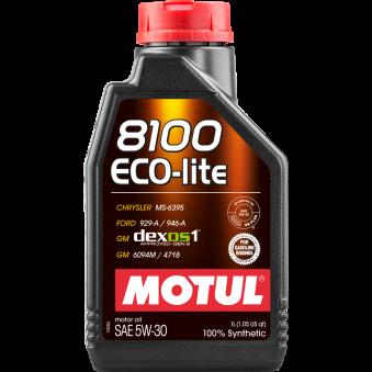 Huile moteur 8100 Eco-lite 5W30 - 1 litre MOTUL 108212