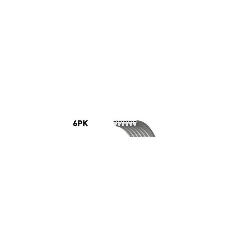 Courroie trapézoïdale à nervures GATES [6PK825]