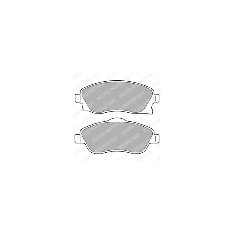 Jeu de 4 plaquettes de frein avant DELPHI [LP1676]