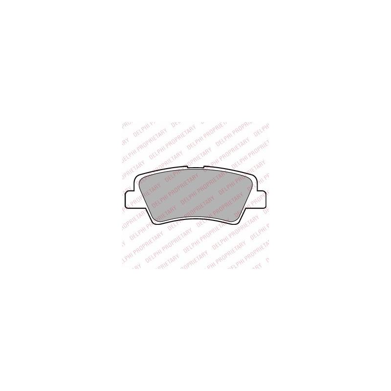 Jeu de 4 plaquettes de frein arrière DELPHI [LP2295]