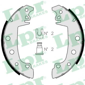 Jeu de mâchoires de frein LPR 02850 pour ALFA ROMEO 33 1,5 4x4 - 84cv