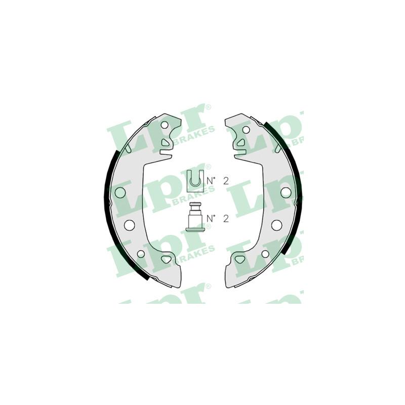 Jeu de mâchoires de frein LPR 02850 pour RENAULT R18 1,6 - 79cv