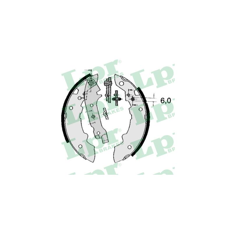 Jeu de mâchoires de frein LPR 04470 pour RENAULT R18 1,6 - 73cv