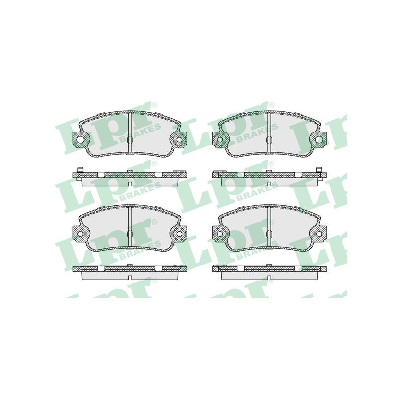 Jeu de 4 plaquettes de frein arrière LPR [05P128]