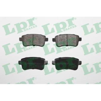 Jeu de 4 plaquettes de frein arrière LPR 05P1484 pour RENAULT MEGANE 2,0 DCI - 160cv