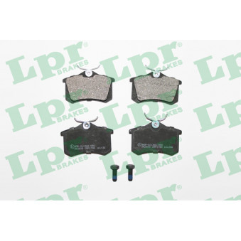 Jeu de 4 plaquettes de frein arrière LPR 05P1788 pour RENAULT MEGANE 2,0 DCI - 160cv