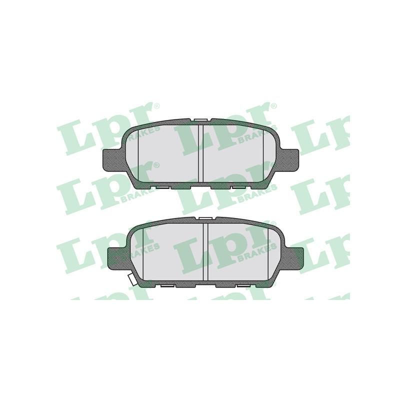 Jeu de 4 plaquettes de frein arrière LPR [05P1839]