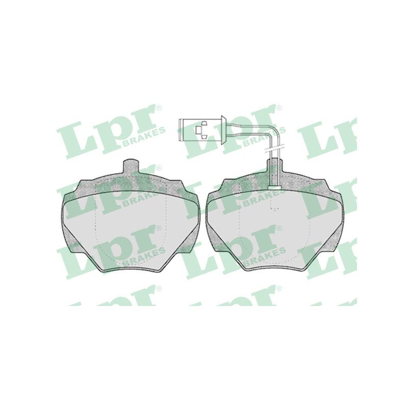 Jeu de 4 plaquettes de frein arrière LPR [05P431]