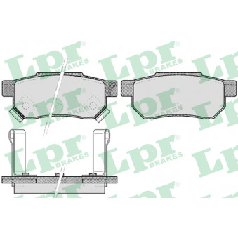 Jeu de 4 plaquettes de frein arrière LPR 05P507