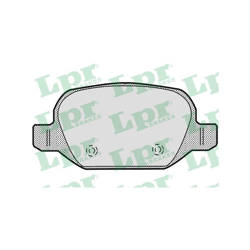 Jeu de 4 plaquettes de frein arrière LPR [05P871]