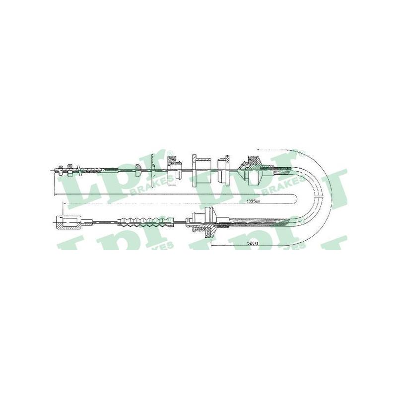 Tirette à câble, commande d'embrayage LPR [C0057C]