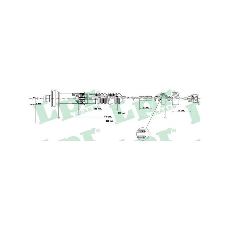 Tirette à câble, commande d'embrayage LPR [C0155C]