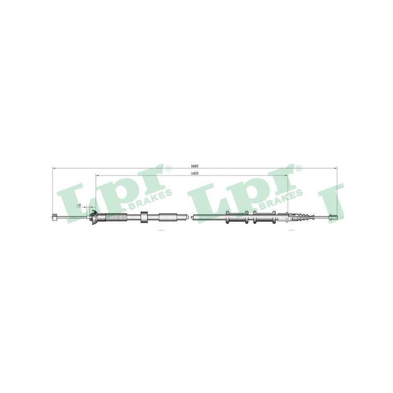 Tirette à câble, frein de stationnement LPR [C0180B]