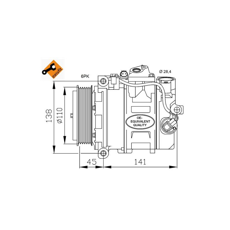 Compresseur, climatisation NRF [32214]