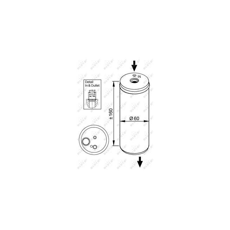 Filtre déshydratant, climatisation NRF [33114]