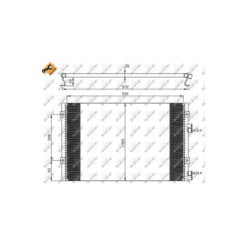 Condenseur, climatisation NRF [35608]