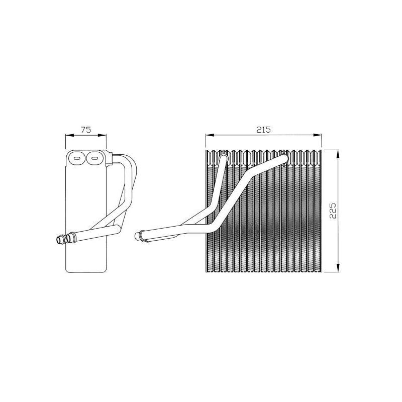 Evaporateur climatisation NRF [36069]