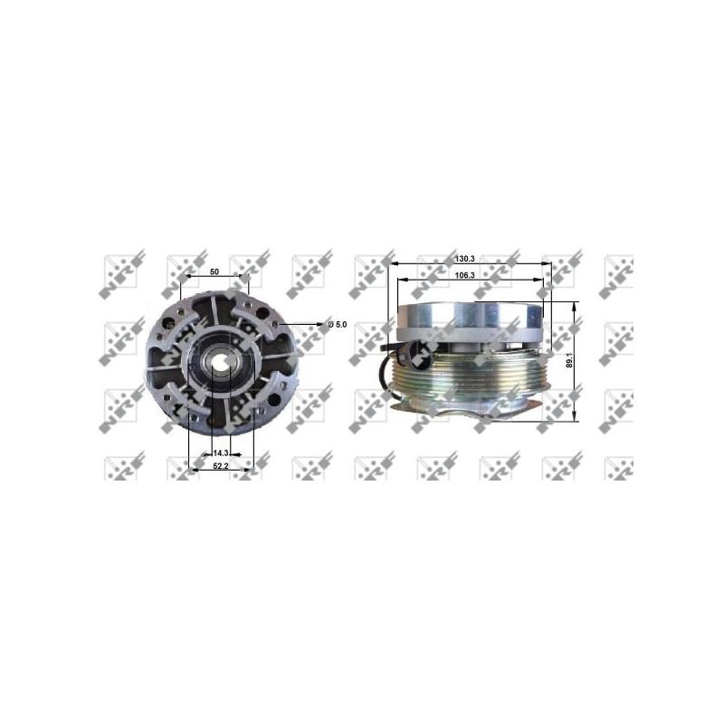 Embrayage, ventilateur de radiateur NRF [49701]