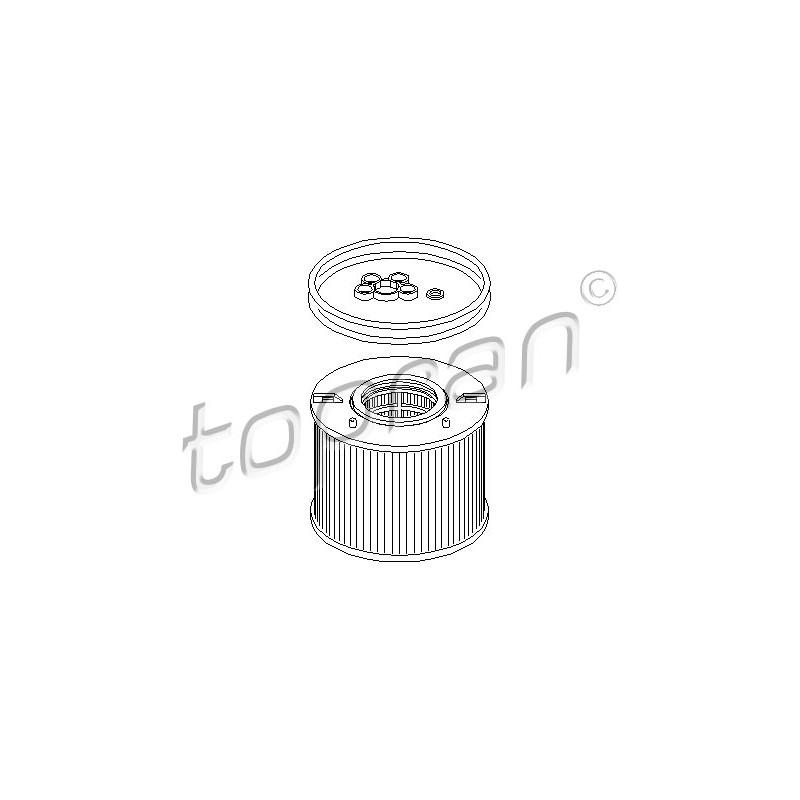 filtre carburant volkswagen touareg 7la 7l6 7l7 3 0 v6 tdi 224cv partauto. Black Bedroom Furniture Sets. Home Design Ideas