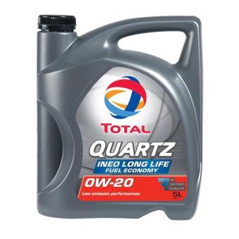 Huile moteur QUARTZ INEO LONG LIFE 0W20 - 5 Litres TOTAL E233D9 pour